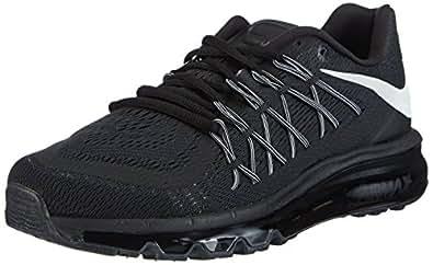 Nike Men's Air Max 2015 Running Shoes, Black / White