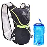 Geila Aire Libre Trail la Competencia de Maratón la Hidratación del Chaleco / Mochila con 1 Sin-BPA Agua de Vejiga (Negro + 1 vejiga de agua)
