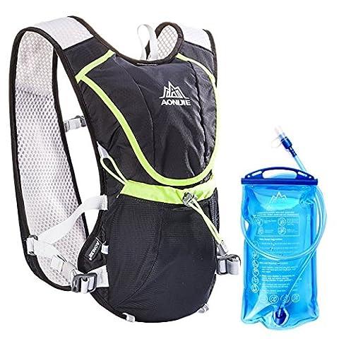 Geila Sport extérieur Trail Marathoner Courir Course Hydratation Vest Hydration Pack Sac à dos avec la vessie 1 de l'eau