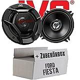 Ford Fiesta 3 4 5 Front - JVC CS-DR520 - 13cm 2-Wege Koax-Lautsprecher - Einbauset