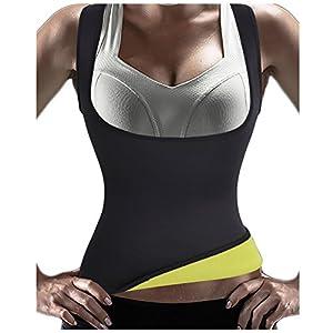 Gotoly Damen Trainingsweste Sport Korsett Training Taillen Corset Neopren Shapewear