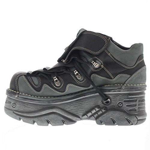 New Rock Womens M1075 C24 Turbo Nubuck Shoes Black