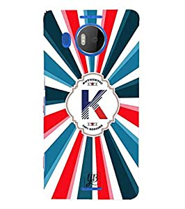 YuBingo Designer Printed Plastic Mobile Back Case Cover Panel for Microsoft Lumia 950 XL ( Kind Letter K (Colourful, Stylish and Cool) )