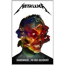 Metallica Hardwired...to self-destruct Póster de tela Negro