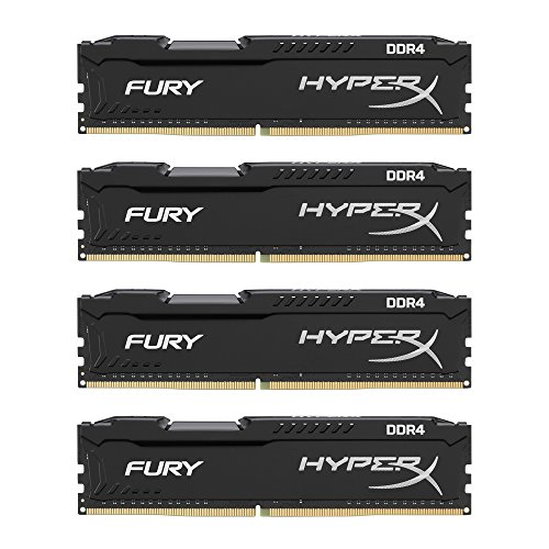 HyperX FURY DDR4 HX421C14FB2K4/32 RAM Kit 32GB (4x8GB) 2133MHz DDR4 CL14 DIMM