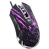 Gaming mouse cablato, professionale DPI Regolabile Usb ergonomico computer adatto per PC Laptop Notebook desktop,black
