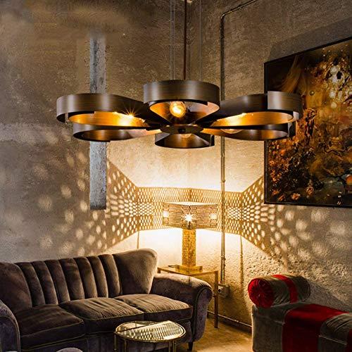 MRXUE Vintage Colgante luz diseño Flor Colgante Antigua