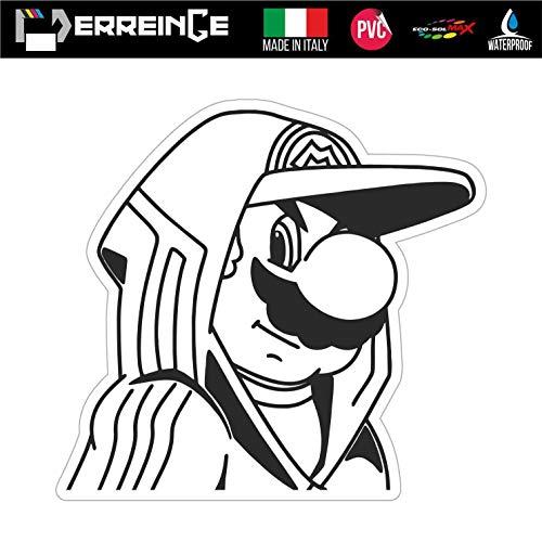 erreinge Sticker GEFORMT 35cm - Super Mario Videogame Cartoon - Aufkleber Decal Vinyl Wandgemälde Laptop Auto Motorrad Helm Wohnmobil
