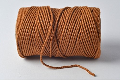 Sahara Sand/Cognac/Coffee 100% Cotton Twine - 10 metres cut length by Cranberry Card Company by Cranberry Card Company