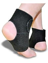 PIXNOR Paire de magnétique auto-échauffement cheville Pad cheville Support Brace protecteur (noir)