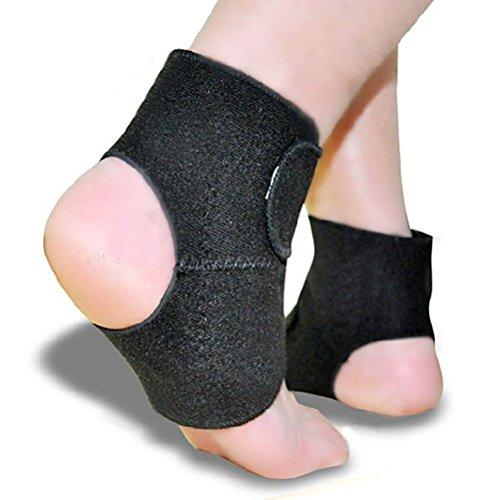 PIXNOR Terapia magnetica termico auto-riscaldante Pad cinghia caviglia caviglia (nero)