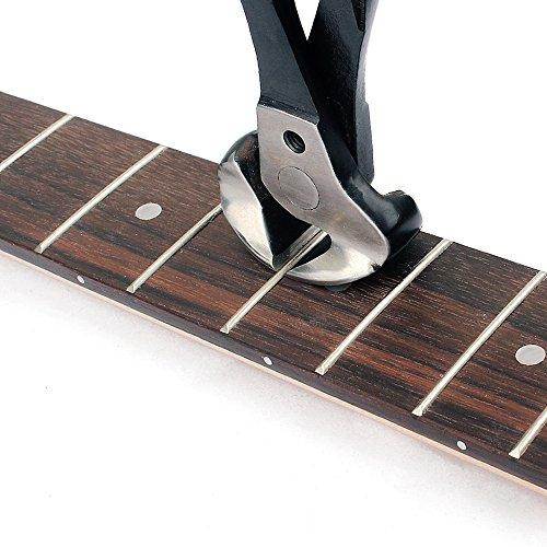 kenthia profesional para guitarra trastes alambre extractor Nipper Alicates Cortador de cuerdas Luthier herramienta tijeras de acero inoxidable