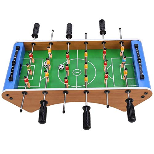Riuty Football Table, Wooden Mini Soccer Competition Table Top Game for Beginners to Intermediate Players Set Game Room Sports with Legs