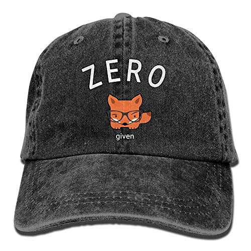 Wdskbg Men's/Women's Adjustable Denim Jeans Baseball Kappen Zero Fox Given Snapback Cap ()