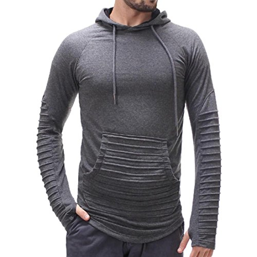 Tops Pure Color Männer Herren Streifen Stitching Hoodie Joint Langarm Shirt Bluse GreatestPAK T-Shirts