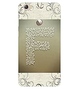 "ColourCraft Alphabet ""F"" Design Back Case Cover for LeEco Le 1S"
