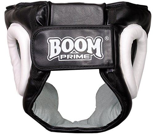 Boom Prime Weiß Leder Boxen Kopfschutz Sparring Helm Kopf Kampf Displayschutzfolie MMA Martial Arts Abbildung 3