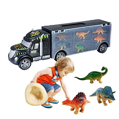 OHQ Juguete del CamióN del Portador De Coche del Transporte De Dinosaurios del CamióN del Dinosaurio 6 Juguetes De Los Dinosaurios