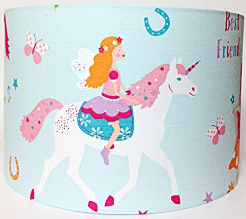 Magical-Unicorn-Large-Fabric-Light-Shade-Pink