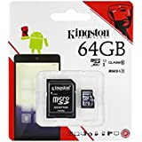Kingston 64GB Class 10 Micro SD Memory Card with Adapter (SDC10G2/64GBRF)