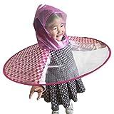 Mxssi Divertido Impermeable Creativo Paraguas Sombrero Sombrero Gorra Pesca Al Aire Libre Golf Niño Adulto Capa de Lluvia Cubierta Paraguas Transparentes Rejilla Roja S