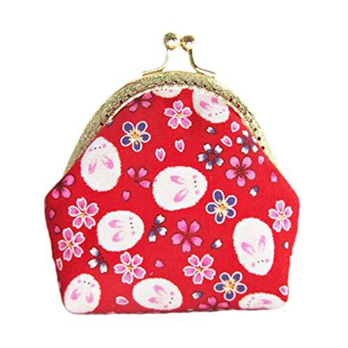Filles japonaise Porte-monnaie Porte-monnaie élégant sac à main Porte-monnaie O