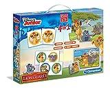Clementoni 13390.1 - Edu Kit 4 in 1 Die Garde der Löwen, Puzzle, Spiel, Memo