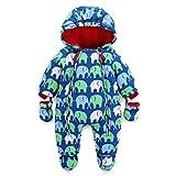 Baby Schneeanzug Spielanzug Winter Overall Reißverschluss Vorne (3-6 Monate)