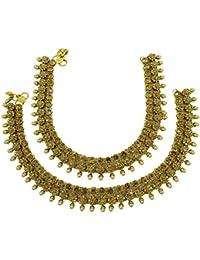 Banithani Indian Diseñador Payal Tobillera Pulsera tradicional de Bollywood joyería regalo para ella