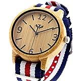 Reloj de madera MOSCA NEGRA modelo SLOWOOD 01 correa Nylon - Wood Watch PREMIUM