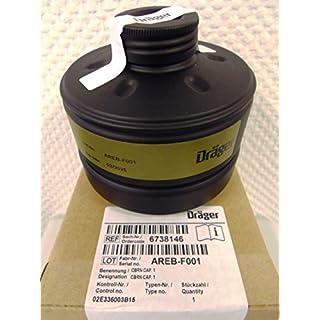 Dräger ABC Respirator Filter with DIN EN Thread CBRN Cap 1