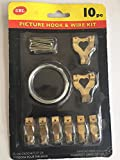 Picture hook & wire kit - 10pc