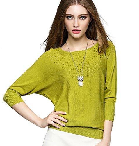 CoCo-fashion-Damen-Casual-Langarm-Blusen-Tops-T-Shirt-Pullover-Rundhals-Gestrickt-mit-weichem-Griff