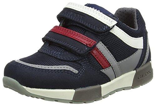 Geox Jungen J Alfier C Low-Top Sneaker, Blau (Navy/Grey), 31 EU