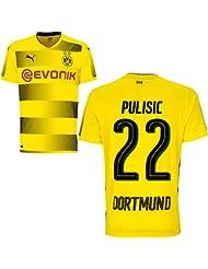 Puma BVB Borussia Dortmund Home Trikot 2017 2018 Heimtrikot mit Spieler Name Farbe Pulisic, Größe M