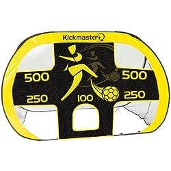 Kickmaster Quick Up But de foot avec cible de tir à montage rapide Jaune/noir