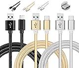 Asus Zenfone 3 ZE520KL / ZE552KL Câble USB Type C 1M, Chargeur USB C en Nylon avec...