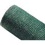 MAILLESTORE Brise-Vue 80% - Vert/Noir - 95gr/m² - sans Boutonnières Vert/Noir 1m x 10m