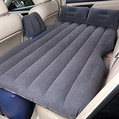 Luftmatratzen SUV-Auto-Luft-Bett-kampierende Reise-aufblasbare Matratze Portable Dicker-Sex-Bett Mit Elektrischer Pumpe Und Kissen, Grau 136 × 90 × 44cm