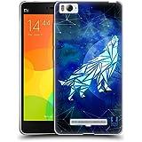 Head Case Designs Wolf Geometric Wildlife Soft Gel Case for Xiaomi Mi 4c / Mi 4i