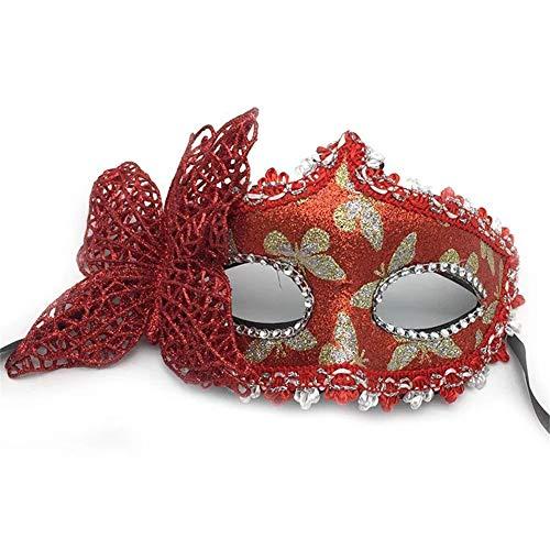Fun Holi-day Supplies Halloween Maske Halbes Gesicht Schmetterling Mädchen Cosplay Maskerade,Red