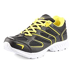 Golden Sparrow MenS Black Mesh Walking Shoes (Tm-Dk-15-07)- 7 Uk