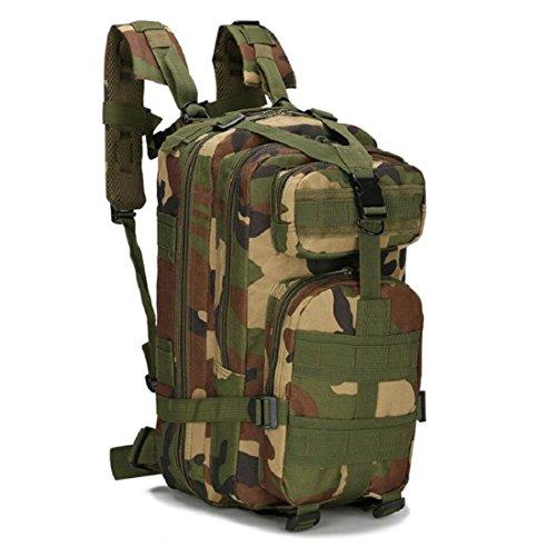 LF&F Backpack Camping outdoor Zaini Borse Tattiche militari sport all'aria aperta 21L Oxford impermeabile traspirante camuffamento Tattiche 3p doppio zaino spalle G 21L J