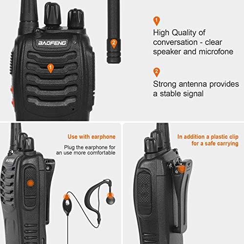Zoom IMG-2 walkie talkie 2pcs ricetrasmittente 16