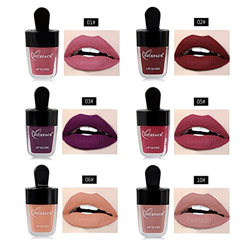 Oshide Makeup Matte Lippenstift Lipgloss Langlebig Eiscreme-Form Lippenstift-Kosmetika