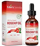 100% Pure Rosehip Oil – 60ml – Certified ORGANIC – Revitalises Skin & Hair – Clinically Proven – Natural / Cold pressed & unrefined – NON Greasy HIGH absorbency – Use daily – Anti ageing, nourishes, hydrates and visibly reduces fine lines, scars, stretch marks and skin pigmentations – Suitable for all skin types – Eden's Semilla Essential Skin Care