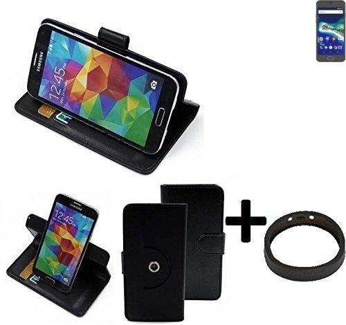 K-S-Trade® Case Schutz Hülle Für -General Mobile GM 6- + Bumper Handyhülle Flipcase Smartphone Cover Handy Schutz Tasche Walletcase Schwarz (1x)
