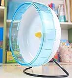 LA VIE Ruota Grande Silenziosa Criceti in Plastica con Supporto Pet Toy Giocattolo Hamster Scoiattolo Accessori Gabbie Roditori 21cm in Blu
