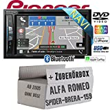 Alfa Romeo 159 Spider Brera Navi - Autoradio Radio Pioneer AVIC-Z610BT - Navigation | Bluetooth | DVD | Apple CarPlay Einbauzubehör - Einbauset