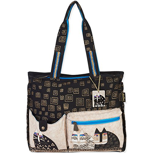 laurel-burch-wild-cats-shoulder-tote-16-by-45-by-13-inch-by-laurel-burch